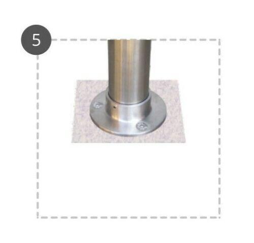 Edelstahl V4A Bodenanker für Rohr ø 42,4 mm