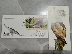 Malaysia China OP Designer Sign 1996 Birds Prey Burung Eagle MS stamp FDC