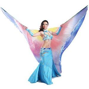 Belly-Dance-Bauchtanz-Kostuem-360-Farbverlauf-Bunte-Isis-Fluegel-bunte-DE