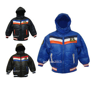 72defb99c226 Details about Boys Coats Winter Hooded Padded New Sports Fashion Jacket Age  3 - 14 years