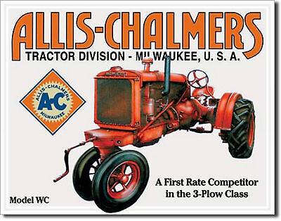 Allis Chalmers Farm Tractors Model WC Metal Sign Tin New Vintage Style USA #1133