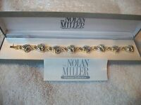 Nolan Miller Uniquely Beautiful Heart Bracelet Silver & Goldtone Free Ship