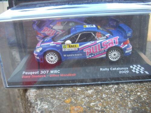 MONDESIR RALLY CATALUNYA 2009  SCALA 1\43 SNOBECK-G PEUGEOT 307 WRC D