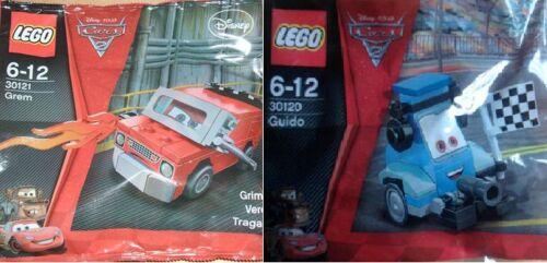 2x LEGO Disney Cars Cars2 Grem + Guido 30120 30121