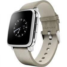 PEBBLE TIME SILBER iOS ANDROID SMARTWATCH HANDYUHR ARMBANDUHR SMART COACH