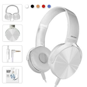 Ver-Ear-Teens-Foldable-DJ-Headphones-3-5mm-Wired-Bass-Game-Earphones-WIth-MIC-X