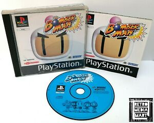 Bomberman-Sony-Playstation-ps1-Black-Label-Spiel-PAL-sehr-gut-komplett