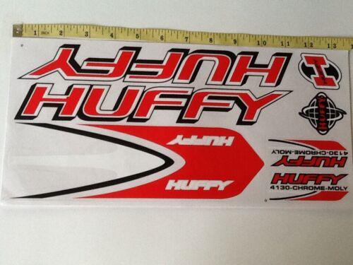 Huffy 4130 Stickers  Red White /& Black Die cut.