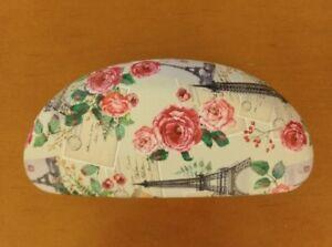New-Jessica-McClintock-Hard-Eyeglass-Sunglass-Case-Clamshell-Floral-180421-230