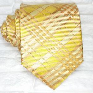 Cravatta-uomo-gialla-tartan-100-seta-Made-in-Italy-scozzese