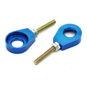 Pitbike-Bleu-Alliage-CNC-12mm-Chaine-Surtensions-Ajusteur-50cc-110cc-125cc-140cc