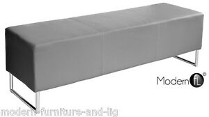 Image Is Loading Grey Cube Dining Bench Seat Block