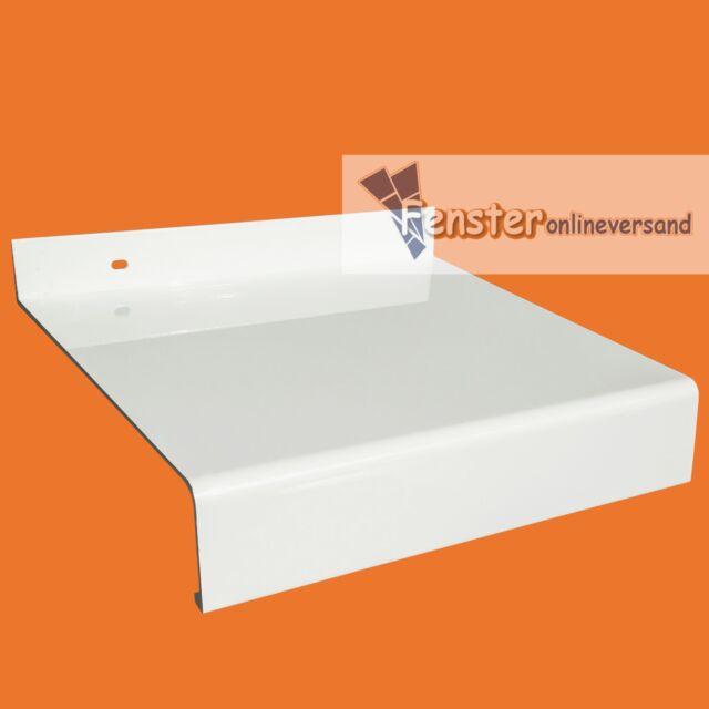 ALUMINIUM FENSTERBANK Weiß FENSTERBRETT Ausladung 50 - 380 mm inkl. Zuschnitt