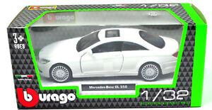 Mercedes-Benz-CL-550-blanco-escala-1-32-de-Bburago