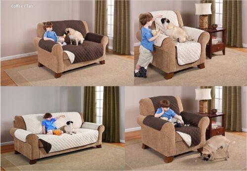 Deluxe REVERSIBLE Pet Furniture Protector ~ Sofa ~ Loveseat ~ Recliner ~ Chair ~