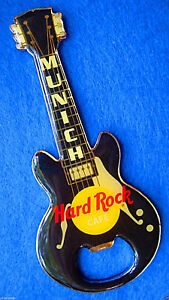 Munich-Allemagne-Noir-Gibson-Ouvre-Bouteille-Guitare-Aimant-Hard-Rock-Cafe-Not-A