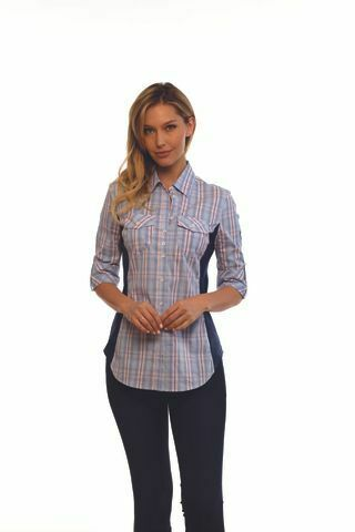 Para Mujer Camisa Perfecto Goode Rider con bolsillos de parche  y el contraste bordado  venta de ofertas