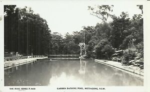 GARDEN BATHING POOL MITTAGONG NSW PHOTO POSTCARD