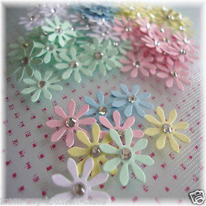 Paper flower daisy embellishments scrapbooking cardmakingtable image is loading paper flower daisy embellishments scrapbooking cardmaking table confetti mightylinksfo