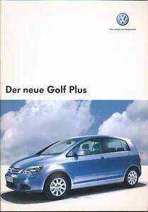 VW-Golf-Plus-Prospekt-2004-11-04-brochure-Autoprospekt-prospectus-broszura-Auto