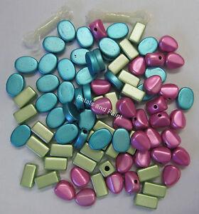 New-Metallic-Acrylic-Beads-amp-Elastic-Bead-Kit-Beading-amp-Jewellery-Making-WVBX10