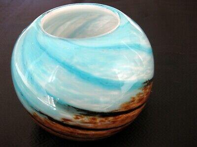 Art Glass Hqt Hand Made Home Design Globe Vase Ebay