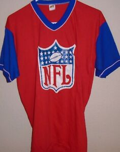 vintage 1970s NFL football shield t shirt size XL
