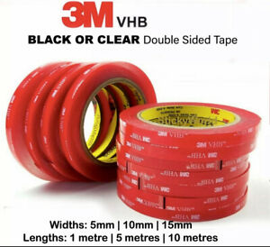 3M Double Sided Tape Automotive Auto Acrylic Craft Car Body Trim Strong VHB Tape