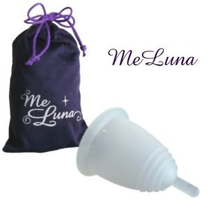 MeLuna-Gr-XL-Classik-klar-Menstruationstasse-Menstruationsbecher-Monatshygiene