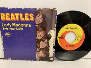 Beatles-Rock-45-Lady-Madonna-The-Inner-Light-Capitol-2138-Picture-Sleeve