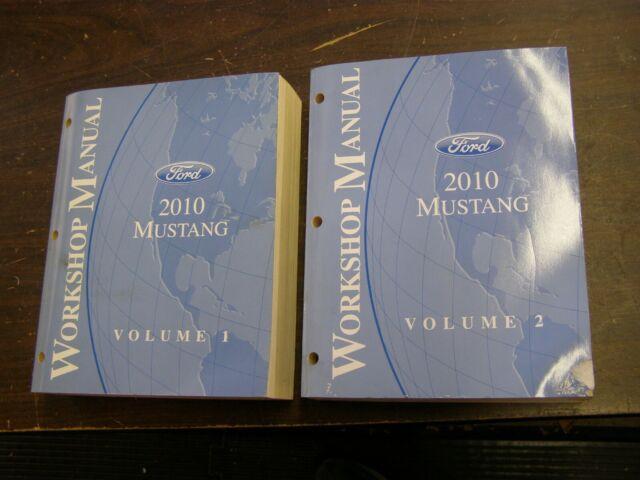 Oem Ford 2010 Mustang Shop Manual Book   Wiring Diagram Gt