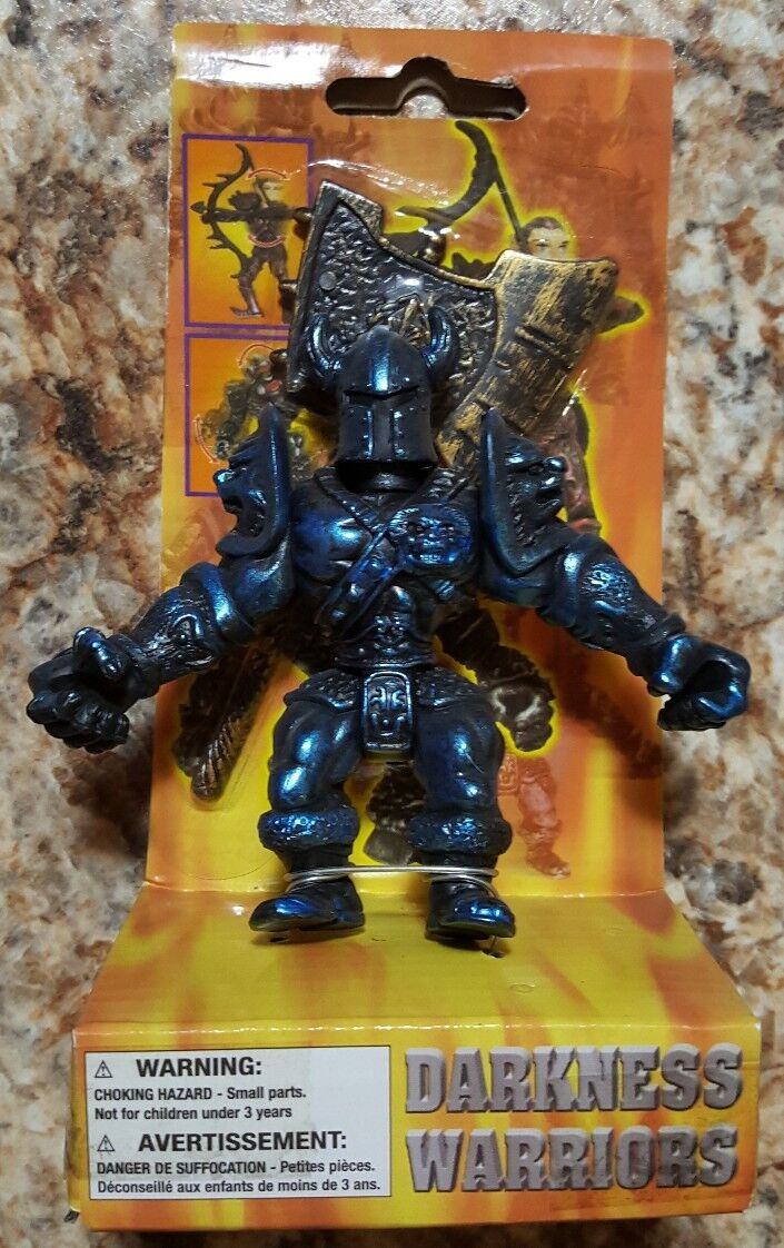 Rare  Darkness Warriors Action Figure Toy Moving Arms Legs Head Axe bluee