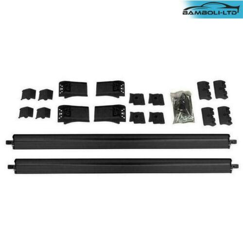 BLACK ALUMINUM TOP ROOF RACK CROSS BAR//RAIL LOCKABLE FOR BMW X5 2014-2018