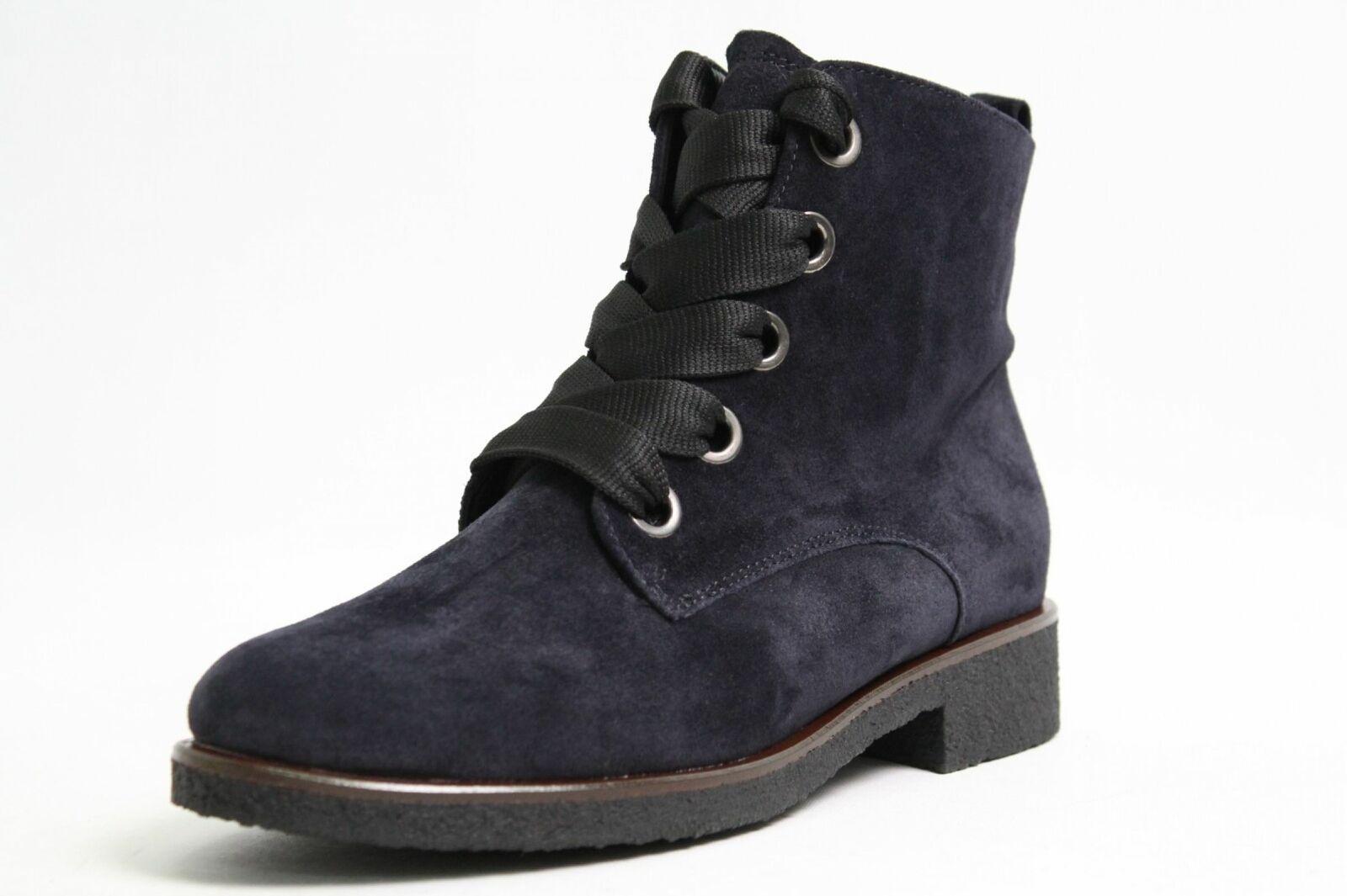 Gabor Stiefeletten blau Nubuk Leder komfort Damen Schuhweite