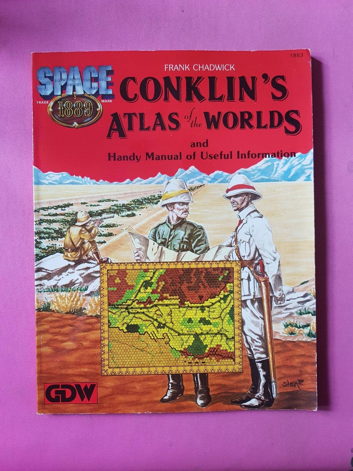 Atlas conklins De Los Mundos-espacio 1889-RPG Juego de Rol de mesa GDW Raro