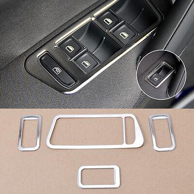 For VW Golf Mk7 2014 Chrome Interior Door Window Switch Frame Cover Trim 4Pcs