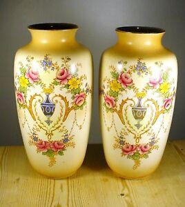 Albert-G-Richardson-Regal-Ware-1920-1-PAIR-Large-Blushware-Vases
