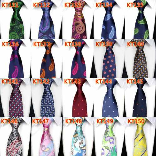 "57/"" NEW Classic 8CM mens tie Man Silk ties Paisley Jacquard WOVEN Necktie"