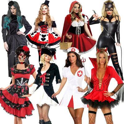 Strega Vampiro Diavolo Halloween Fancy Dress femminile Festa Cosplay Abiti Costumi