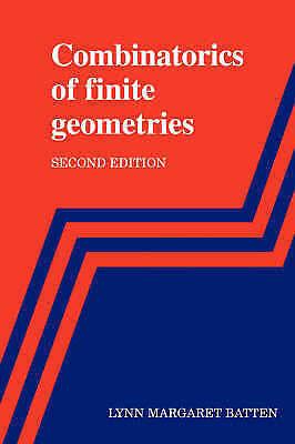 1 of 1 - USED (GD) Combinatorics of Finite Geometries by Lynn Margaret Batten