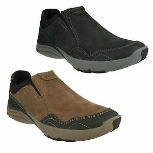 Details about WAVE TRAVEL MENS CLARKS NUBUCK LEATHER SLIP ON CASUAL WAVEWALK SHOES BOOTS SIZE