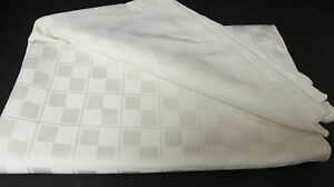 "Formal IVORY Tablecloth - LARGE BANQUET 60"" x 118"""