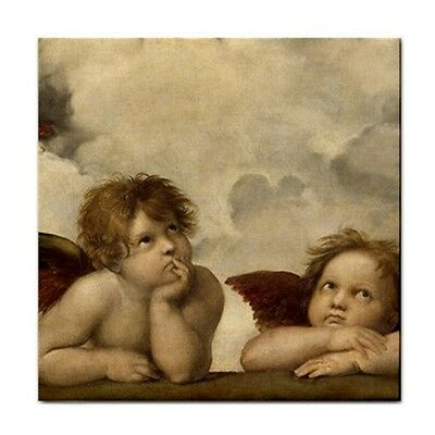 Angels Sistine Madonna Raphael Art Decorative Coaster Ceramic Tile