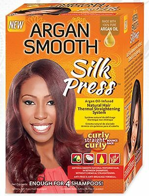 ARGAN SMOOTH SILKY PRESS NATURAL HAIR THERMAL STRAIGHTENING SYSTEM 34285291013 | eBay