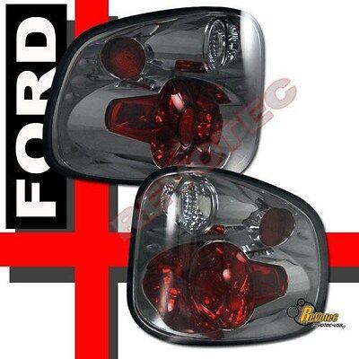 97-00 Ford F150 Lightning Lariat Flareside Stepside Pickup Smoke Tail lights