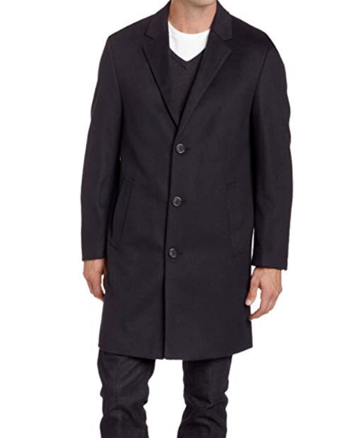 Kenneth Cole New York  Herren Slim Collection Overcoat Navy 44L Retail 350