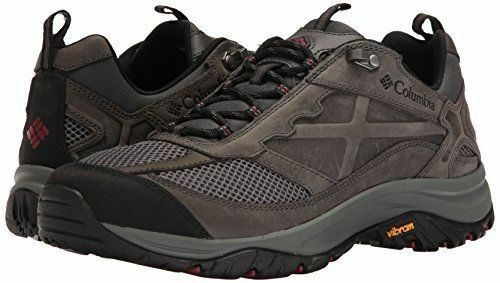 New Columbia Men's Terrebonne Hiking shoes, Dark Grey, Grey, Grey, Red Element, size 12 mens 7a9864