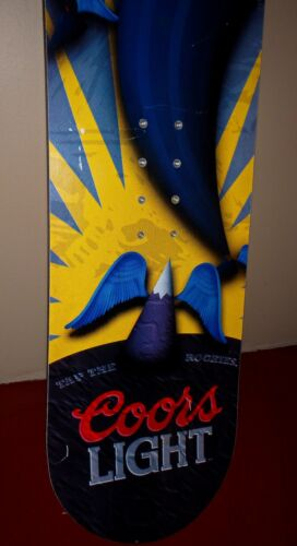 Aggression 133 cm snowboard COORS LIGHT Great condition! RARE and NICE