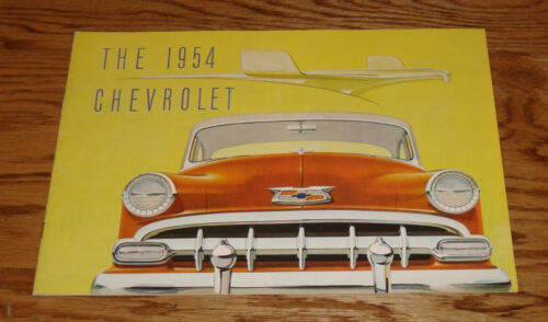 Original 1954 Chevrolet Full Size Car Deluxe Sales Brochure 54 Chevy Bel Air