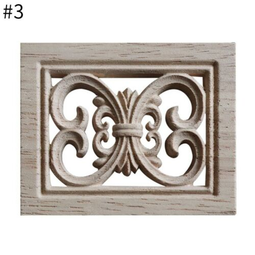 Unpaint Woodcarving Decal Rubber Wood Walls Applique Cabinets Doors Decoration